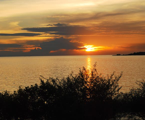 Sunset at Lake Victoria, the world's second-largest freshwater lake.